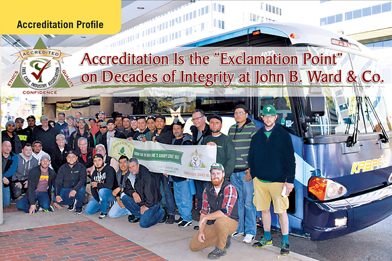 To celebrate their earning TCIA Accreditation last October, Jim Ward rented a bus and took almost his entire staff – 40 people total – to TCI EXPO in Baltimore in November. TCIA staff photo by Kathleen Costello.